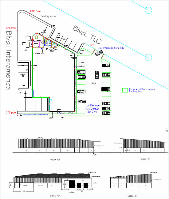 Layout Drawing of 58,000 sqft Spec Building in Ramirez, Tamaulipas